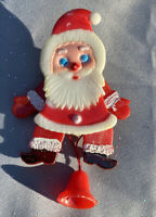 Vintage Santa Claus Pull String Moving And Working Arms & Legs Pinback Button