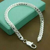 Fashion 925 Silver Plated 5MM SnaKe Chain Necklace Women Men Jewelry Gift