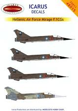 Icarus Decals 1/72 DASSAULT MIRAGE F.1CG Fighters Greek Air Force