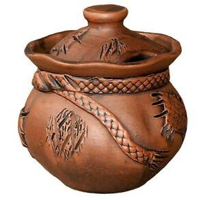 Stoneware Sugar Bowl, Russian Handmade 4x5 in