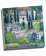 "Gustav Klimt Church in Cassone Canvas Print Wall Art 20x20"""