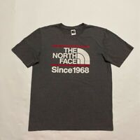 The North Face Since 1968 Mens Graphic T-Shirt Gray Heathered Crew Neck Tee M