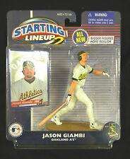 American League MVP in 2001 JASON GIAMBI Oakland A's Uniform : New York Yankees