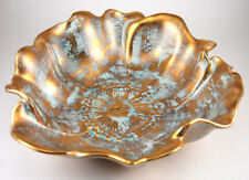 "Stangl Pottery Antique Gold 9"" Flower Bowl #3410-9"