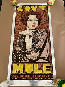 Chuck Sperry Govt Mule Variant Lava Foil Art Print Concert Poster /25 Widespread