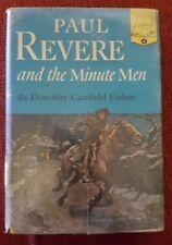Landmark #4, Paul Revere and the Minute Men, Dorothy Fisher DJ, 14th Print, 1950