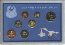 New Born Baby Boy Coin Gift Set 2003 (Parent Mum & Dad Birth Keepsake Present)