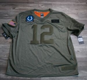 Nike Andrew Luck Salute To Service Colts #12 Jersey BQ0557-227 Men's XL