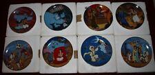 Aladdin Disney Bradford Exchange Complete set 8 Collector's Plates Certificates