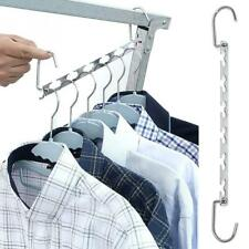 6 Hole Clothes Closet Organizer Multifunctional Space Saving Metal Hangers