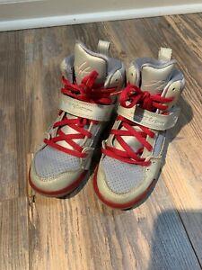 Girls Gray Nike Jordan Flight High Tops Size 13.5C