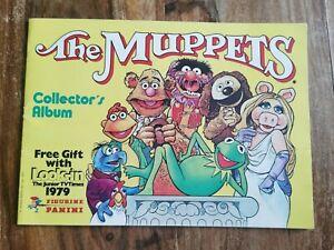 THE MUPPETS TV SERIES PANINI sticker Album 1979 incomplete VGC