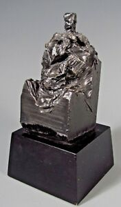 Very Fine Modernist Cubist Iron Sculpture of a Mother & Child ca. 20th century