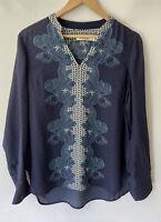 SPORTSCRAFT divine Printed Silk Blend Blouse Shirt Size 10 12