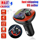 Bluetooth 5.0 Car Wireless FM Transmitter Adapter 2 USB Charger Handsfree EM