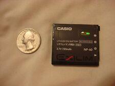ONE Casio NP-60 Elixum digital camera battery black NP60 3.7V 3.7 volt