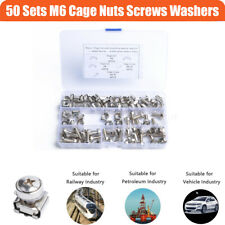 50 Sets M6 x 20 Screws and Cage Nuts Fastener for Storage Cabinet or Server Rack