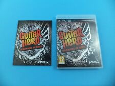 GUITAR HERO WARRIORS OF ROCK VGC Original Sony PlayStation 3 PS3 PAL Video Game