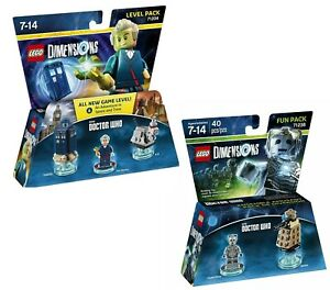 Lego Dimensions Dr. Who Cyberman Fun Pack 71238 &  Dr. Who Level Pack 71204 NEW