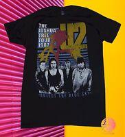 New U2 Joshua Tree 1987 Tour Mens Retro Vintage T-Shirt