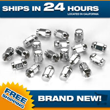 7/16-20 lug nut set of 20 pc lugnuts Chrome Acorn Bulge Lug nuts 7/16 thread