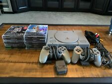 Sony PlayStation 1 Console with 2 Controllers, 18 games, 3 memory cards
