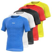 FDX Mens Half Sleeve Cool Mesh Base Layer Lightweight Running Cycling jersey/Top