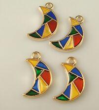 2pcs DIY Lot moon Metal Charm Pendant Necklace Bracelet earring Jewelry a16d