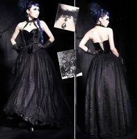 Robe bal soiré gothique lolita baroque dentelle velours broderie corset Punkrave