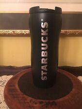 [Starbucks] Shaped Black Stainless Steel Tumbler - 12 Oz