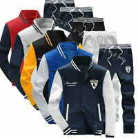New Men's Fleece Tracksuit Sport Suit Jogging Bottoms Jacket and Pants