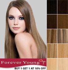 Clip en extensiones de cabello humano 100% Cabello Remy Real Cualquier Color largo trama cabeza UK