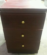 Rosewood Coloured - Small Storage Cabinet  - Bathroom/other Unit with 3 Draws