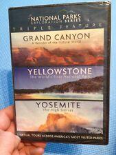 National Parks:Grand Canyon/Yellowstone/Yosemite(R1 DVD)New+Sealed Aerial Camera
