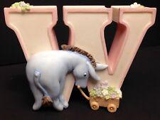 Disney W Eeyore Michel Classic Winnie the Pooh Alphabet Ceramic Nursery Letter
