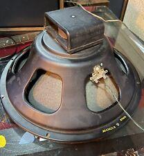"Vintage Heppner 15"" Speaker Woofer Hammond AO-23421-0 Tested Alnico Guitar Amp"