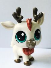 "rare Littlest Pet Shop White ELK Deer Animal 2"" Hasbro LPS Figure kid toy gift"