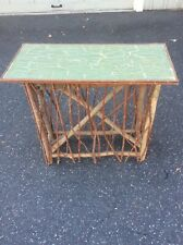 Hand crafted  ,twig ,rustic  Wood hall ,sofa , side table Adirondack Artist Sign