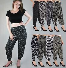 Señoras Largo Completo Impreso Harén Pantalones Pantalones Bombachos Alí Babá Puño Azteca 8 18