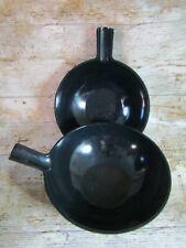 More details for royal vkb ineke hans dutch designer two black handled melamine salad bowls