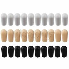 30 x Toggle Switch Tip Caps for electric Guitar Cream/Black/White