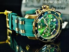 NEW Invicta Men's 48mm Scuba Chronograph Green Dial Gold IP Green Tone SS Watch