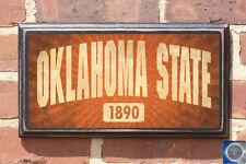Oklahoma State Cowboys Est. Date OSU Antiqued Vintage Sign Plaque Art Decor