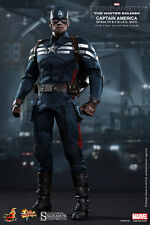 """Hot Toys 1/6 Scale 12"""" Captain America Winter Soldier Stealth Strike Suit MMS242"""