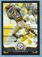 2013 Topps Chrome Football ~ Antonio Brown ~Steelers ~Black Refractor ~ #'d /299