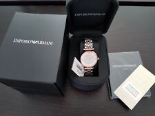 EMPORIO ARMANI AR1926 SILVER ROSE GOLD LADIES WATCH