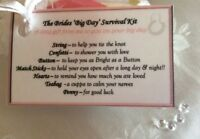Bride Groom survival kit gift wedding Day gift bride to be hen stag night gift