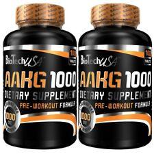 2 x AAKG 1000 von BioTech USA 200 x 1000mg für mehr Pump beim Training + Bonus
