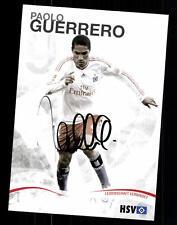 Paolo guerrero autografiada mapa Hamburger SV 2009-10 original firmado + a 57536