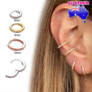 Wholesale 1pc Mini Crystal Huggie Bar Ear Tragus Helix Piercing Post Earring